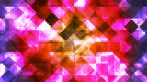 Broadcast Hi-Tech Diamond Shifting Patterns, Multi Color, Abstract, Loopable, 4K CG動画素材