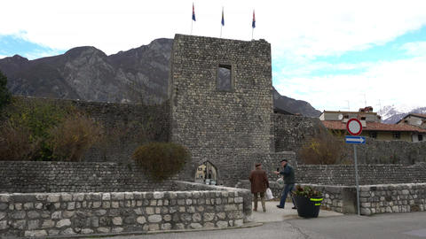 Ancient City Wall in Venzone ビデオ