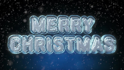 Merry Christmas 3D Text Looping Animation Footage