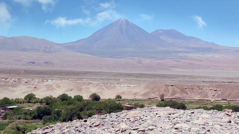 Licancabur Volcano in San Pedro de Atacama, Chile Footage