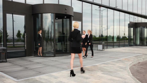Business people walking outdoors Footage