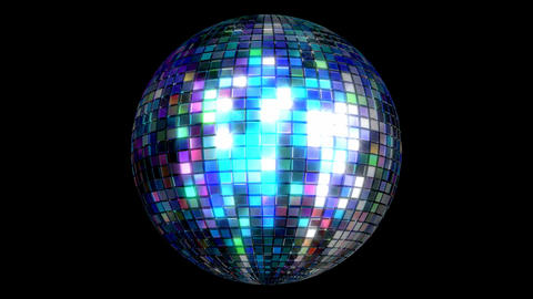 Disco ball 3D animated loop with alpha matte Animation