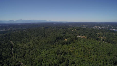 ULTRA HD 4K Flight over a wooded area - Bainbridge Island, USA Footage