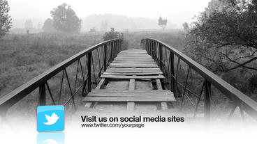 Social Media Lower Third stock footage