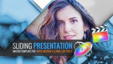 Sliding Presentation Apple Motion Template