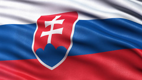 4K Slovakia flag seamless loop Animation