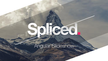 Spliced Angular Slideshow After Effects Template