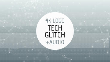 Tech Glitch Logo Reveal After Effects Template