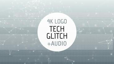 Tech Glitch Logo Reveal stock footage