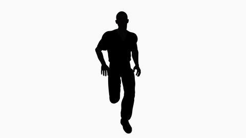 man running animation, alpha channel Animation