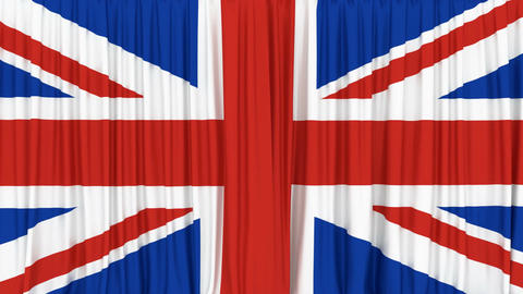 Realistic 3D animation of the national flag of United Kingdom of Great Britain Animación