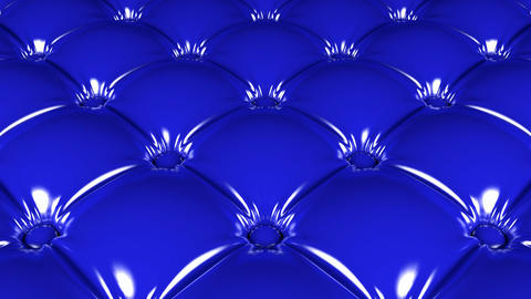 Quilted blue latex pattern 3D animation Animation
