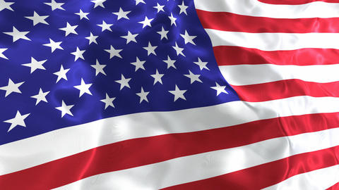 National flag of the United States of America 3D looping animation Animation
