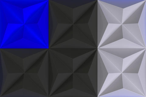 Pattern of black, white and blue pyramid shapes Fotografía
