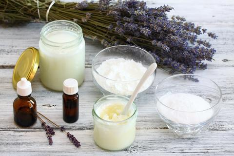 Antibacterial and natural homemade deodorant Fotografía