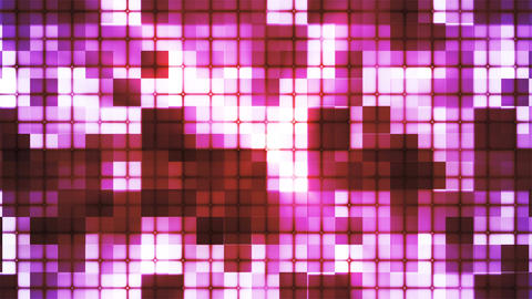 Twinkling Hi-Tech Cubic Squared Light Patterns, Pink, Abstract, Loopable, 4K Animation