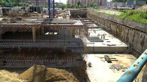 The Construction Of The Underground Part Of The Monolithic Building 0