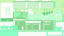 Kitchen flat illustration Vektorgrafik