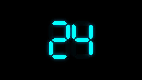 Digital number countdown with alpha channel Stock Video Footage