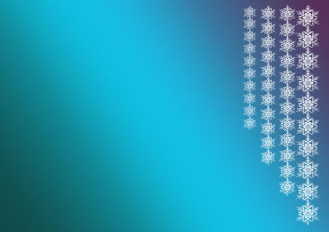 New Year or Christmas background. Garlands of snowflakes on a bl Fotografía