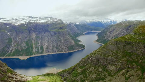 Norway. beautiful landscape of Norway. erial view Footage