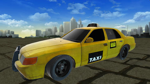 US Taxi CG動画素材