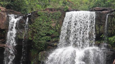travel beautiful koh kood Klong Chao Waterfall Footage