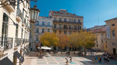 Sao Carlos Theater, Lisbon, Portugal Footage