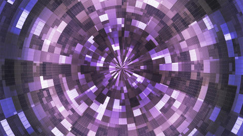 Twinkling Hi-Tech Grunge Flame Tunnel, Purple, Industrial, Loopable, 4K Animation