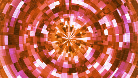 Twinkling Hi-Tech Grunge Flame Tunnel, Orange, Corporate, Loopable, 4K Animation