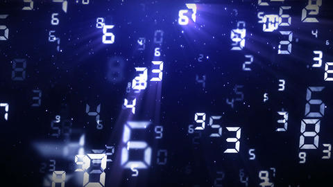 Many Numbers Background, CG animation, Loop CG動画