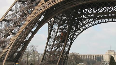 Eiffel Tower,Elevator, Paris, France, Europe GIF