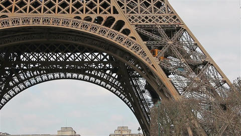 Eiffel Tower,Elevator, Paris, France, Europe Archivo