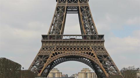 Eiffel Tower, Paris, France, Europe. Overview upward GIF