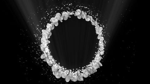 Many silver coin particles, CG Animation CG動画