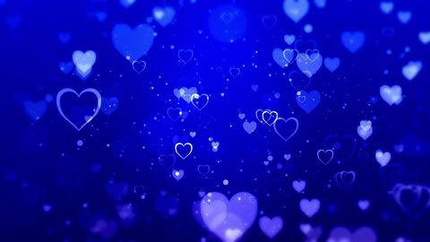 Heart blue CG動画