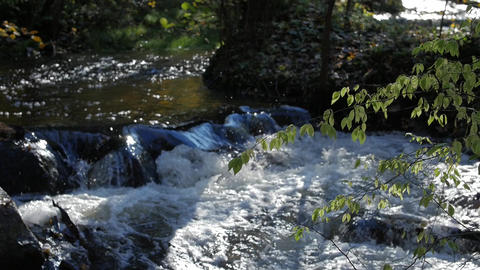 Rapid stream, river water flowing through the stones, wonderful nature scene of Archivo