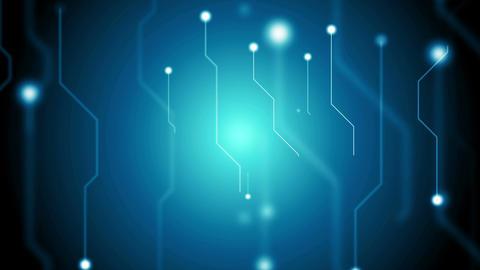 Dark blue tech circuit board technology video animation Animation