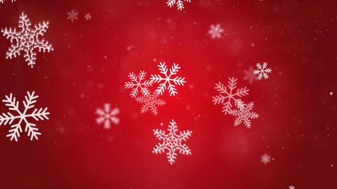 Christmas Falling snowflakes animation particles snowflakes and snow background Animation