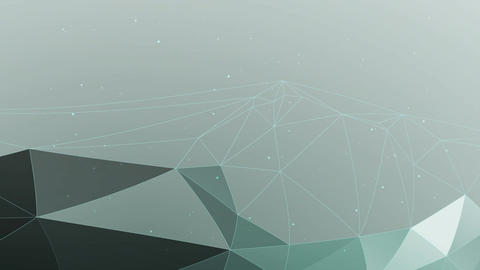 Green and cyan polygonal background Animation