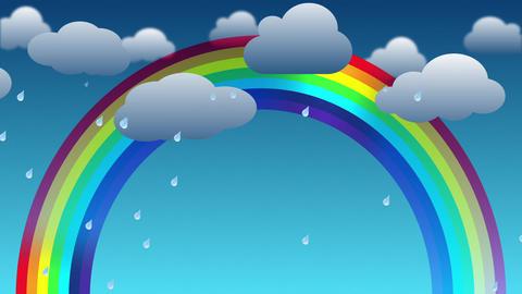Cartoon Rainbow Background GIF