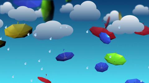 Cartoon umbrellas Animation