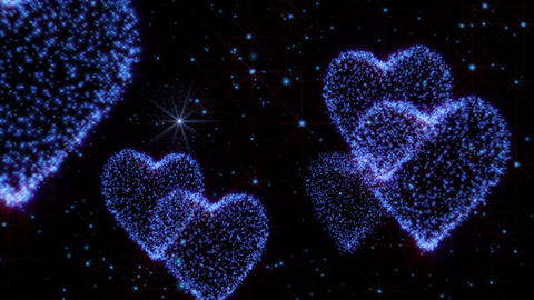 Glowing hearts background Animation