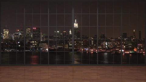 52HD News Virtual TV Studio Green Screen Background NightCity Animation