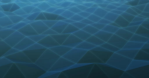 Abstract Background Polygon Wave Looping Live Action