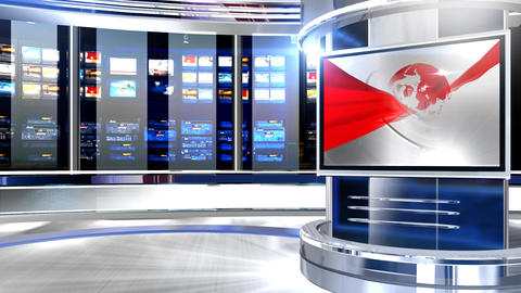 Virtual set globe screen1 Live Action
