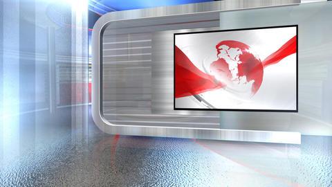 Virtual set globe screen4 Live Action