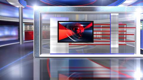 Virtual set news long Live Action