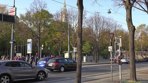 Vienna, Austria - November 2017: Tram on the streets of Vienna.. Austria. Vienna Footage