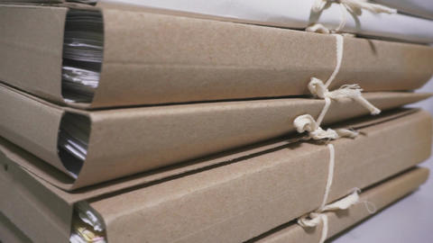 Stacks of documents in the archive. Archive and storage Bild